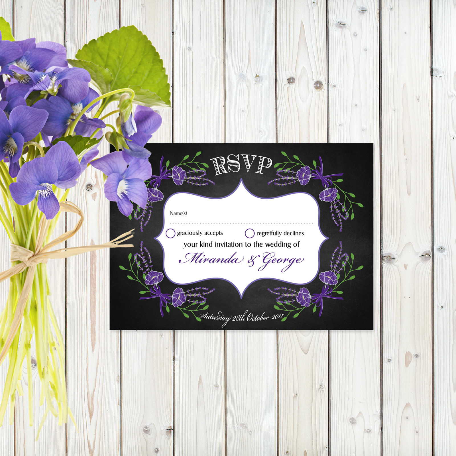 RSVP postcards from £0.86 ea