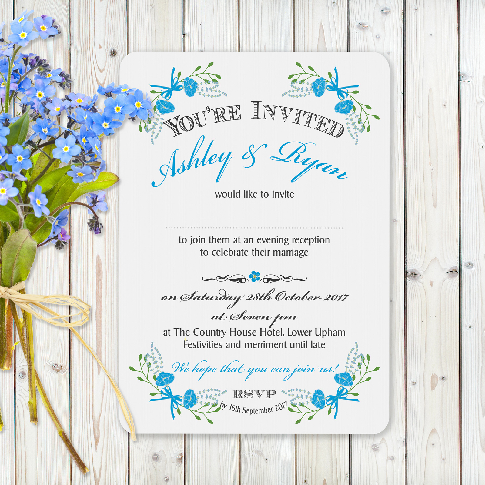 Evening Invitation from £0.92 ea