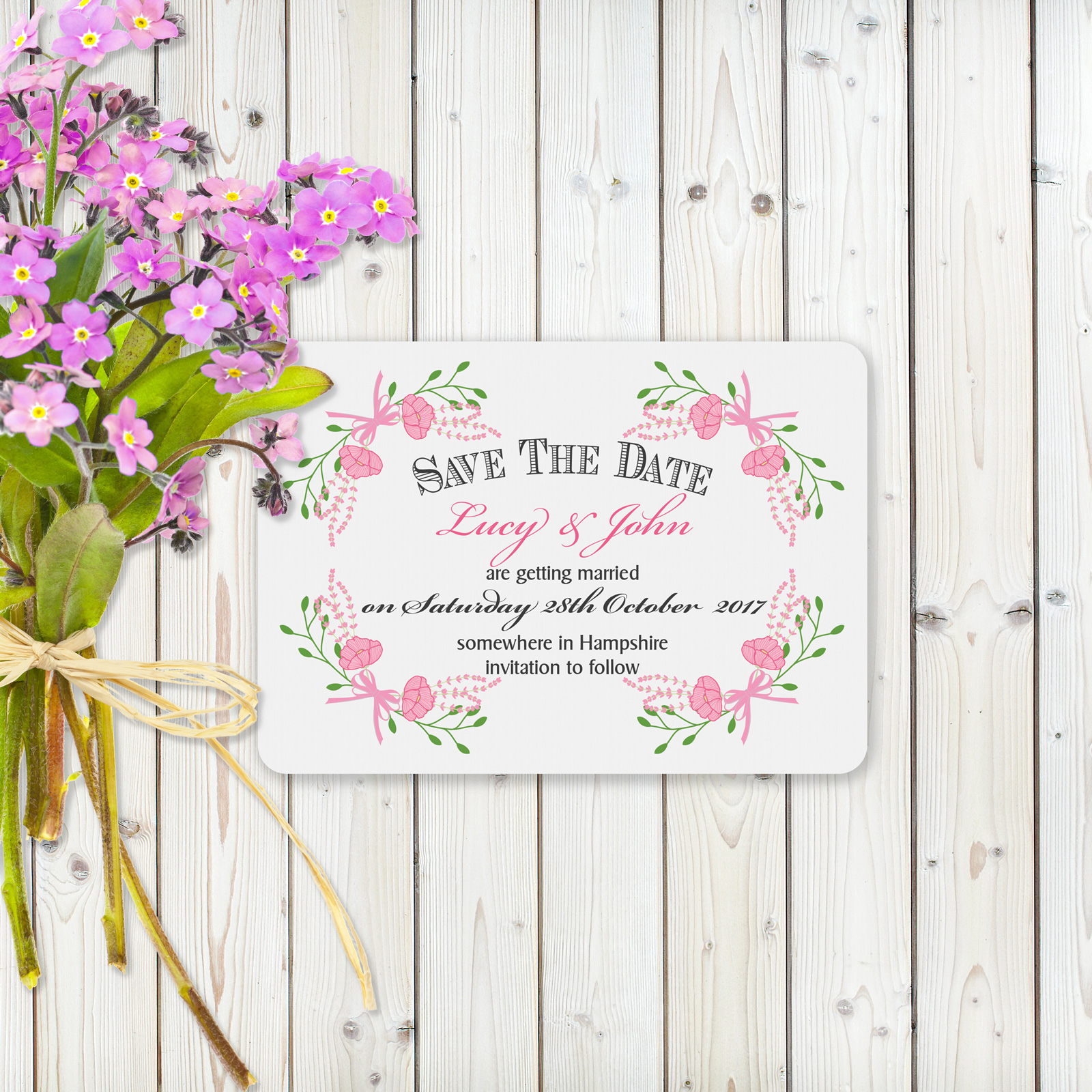 Save the Date cards from £0.50 ea