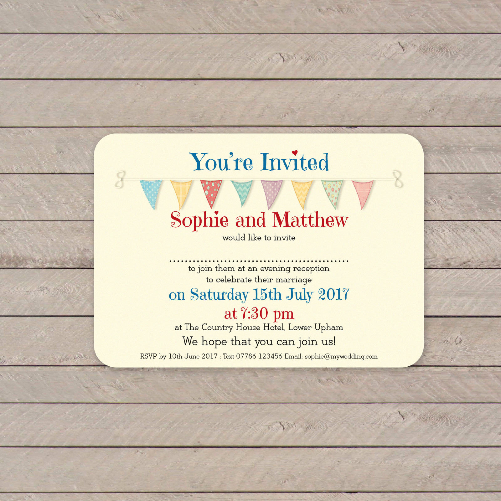 Evening Invitation from £0.50 ea