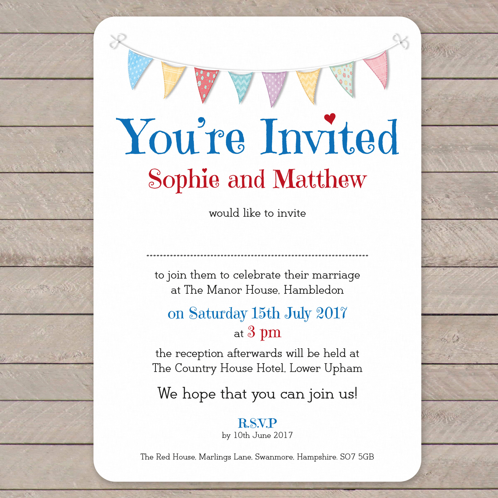 Day Invitation from £0.92 ea