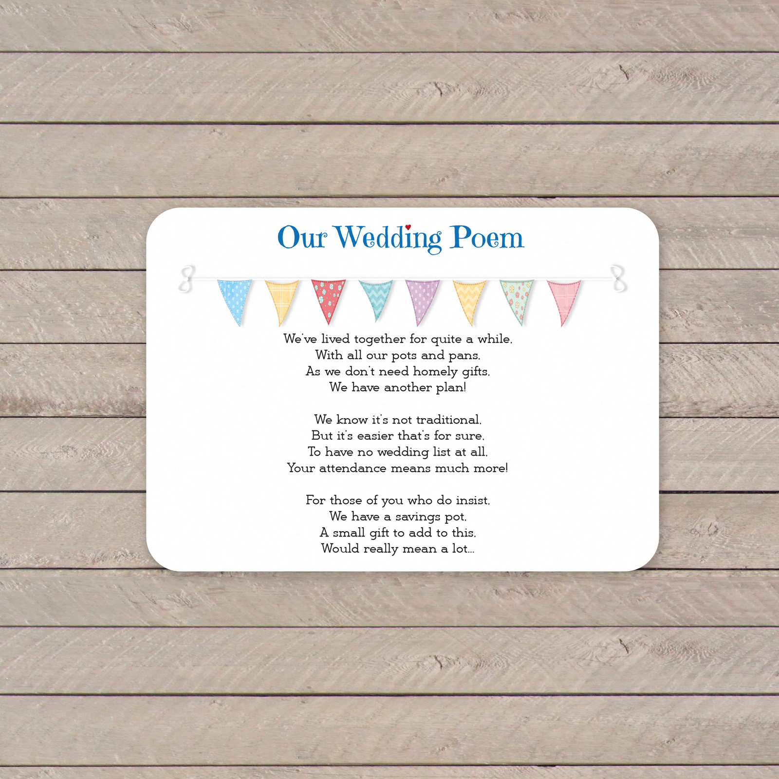 Poem cards from £0.42 ea
