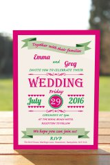 Wedding Fête Fuchsia Pink & Mint Green