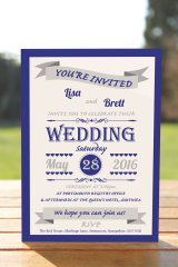 Wedding Fête Navy Blue & Silver