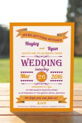 Wedding Fête Burnt Orange & Purple