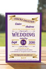 Wedding Fête Cadbury Purple & Gold