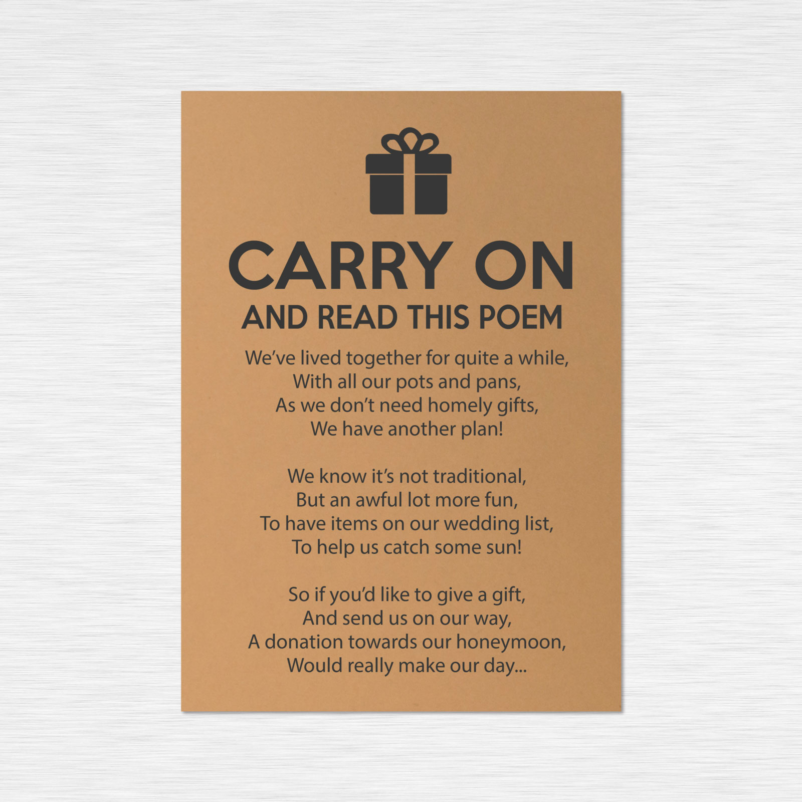 Poem cards from £0.41 ea