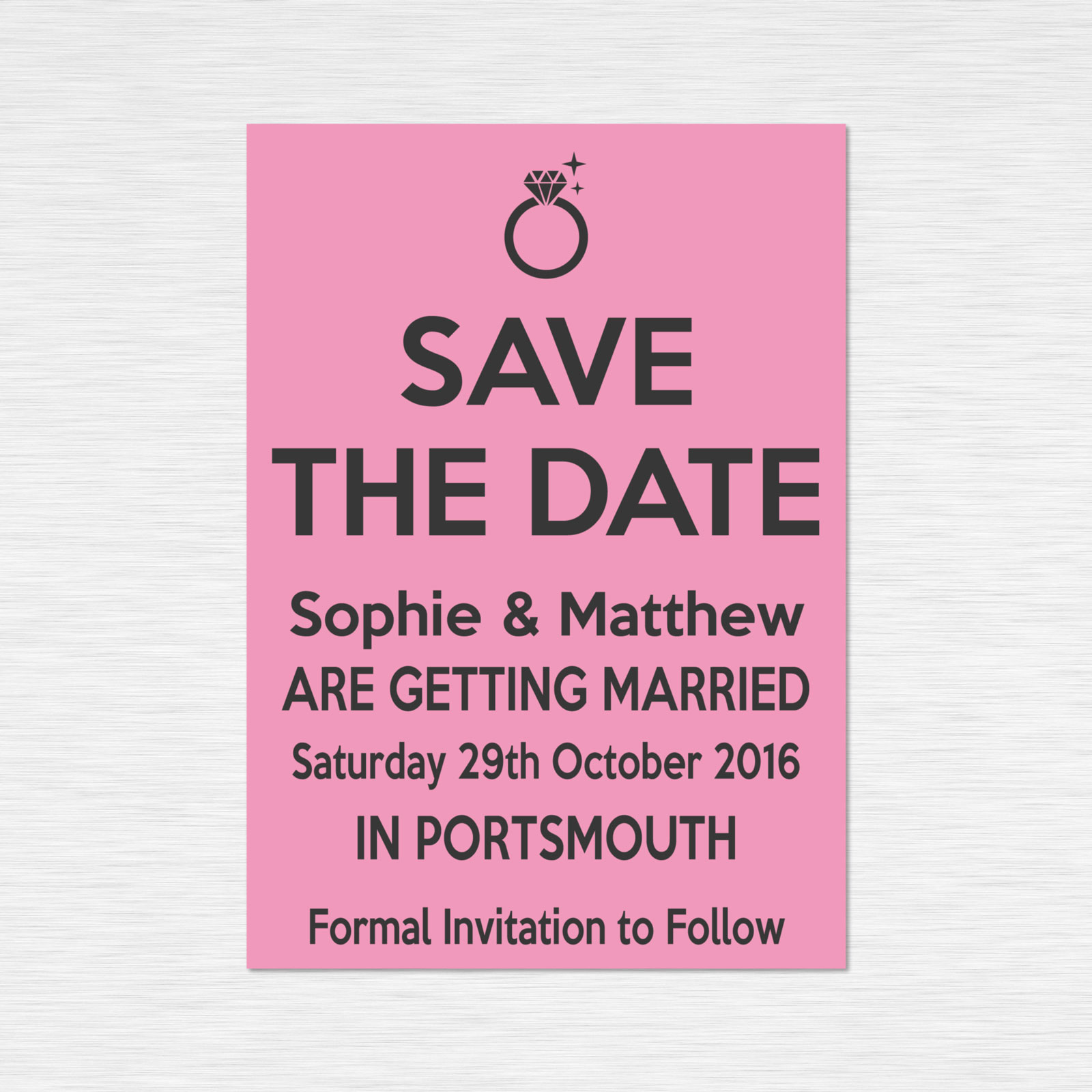 Save the Date cards from £0.57 ea