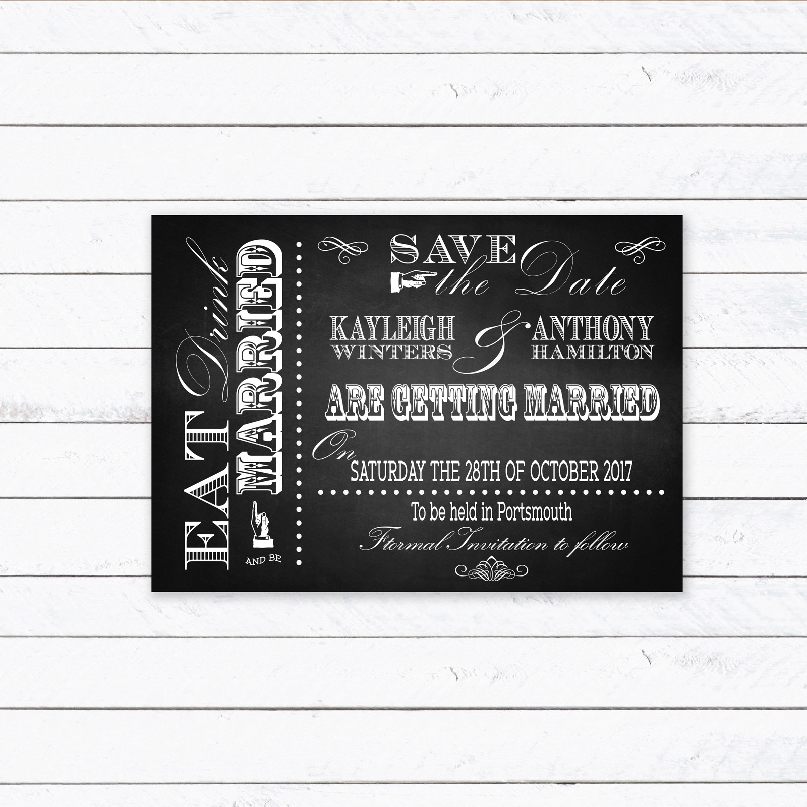 Save the Date cards from £0.90 ea
