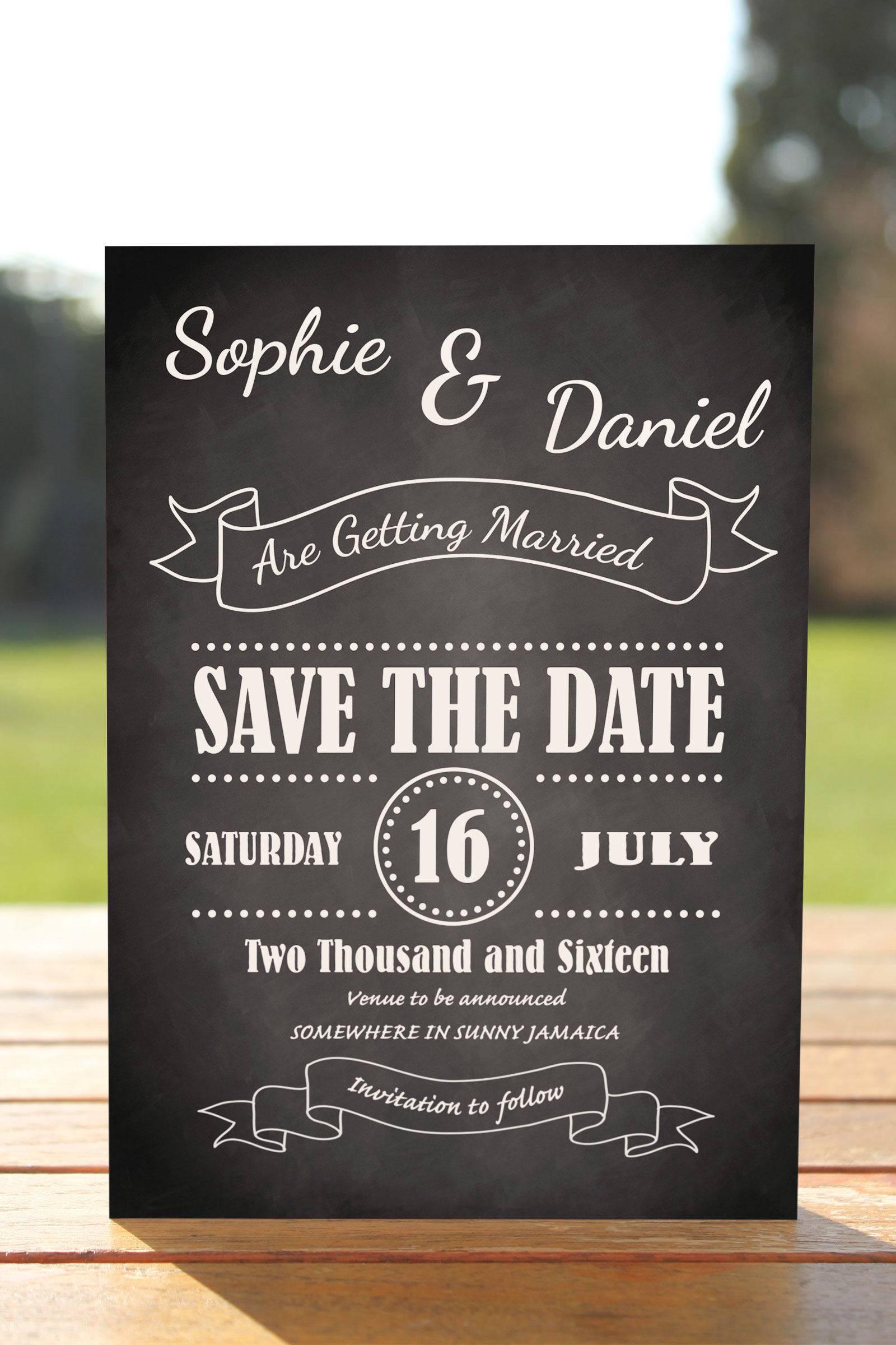Save the Date cards from £0.62 ea
