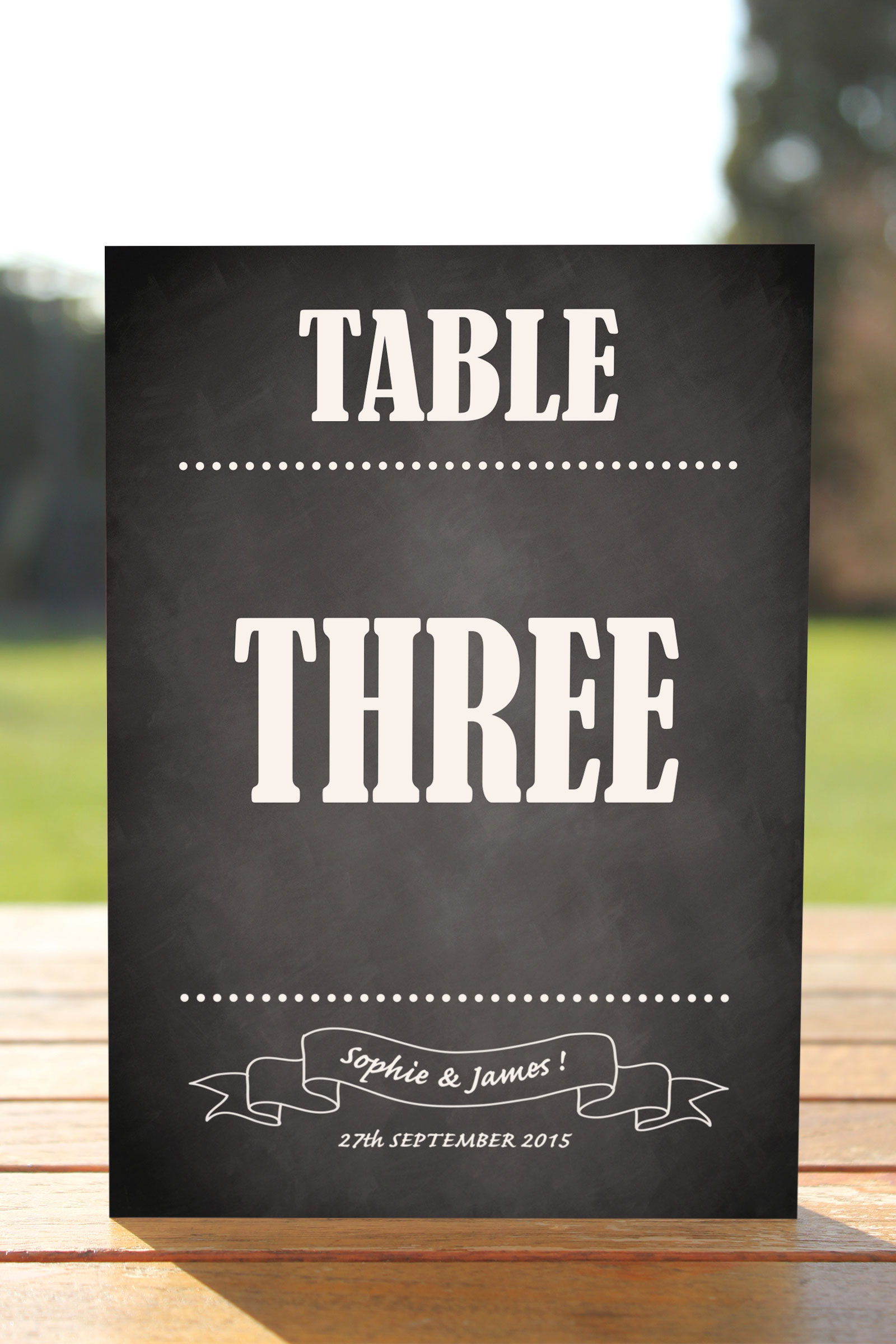 Table Name cards set of 10 £6.95