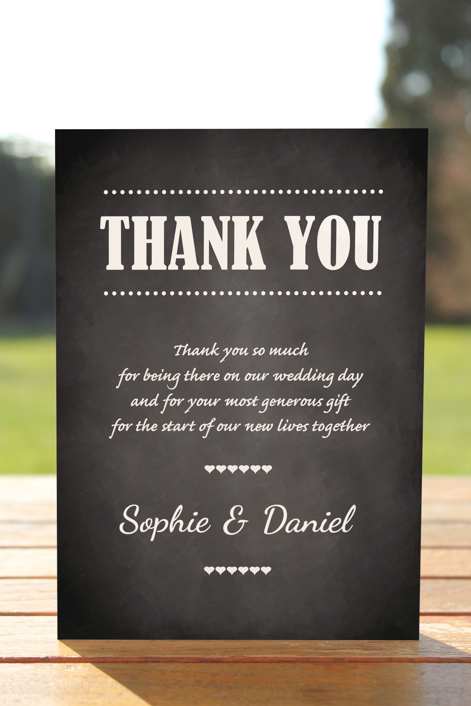 Thank You card from £0.62 ea