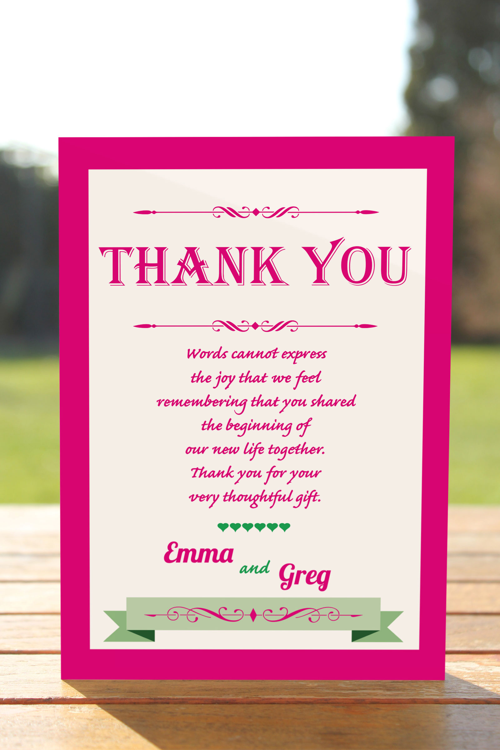 Thank You card from £0.57 ea