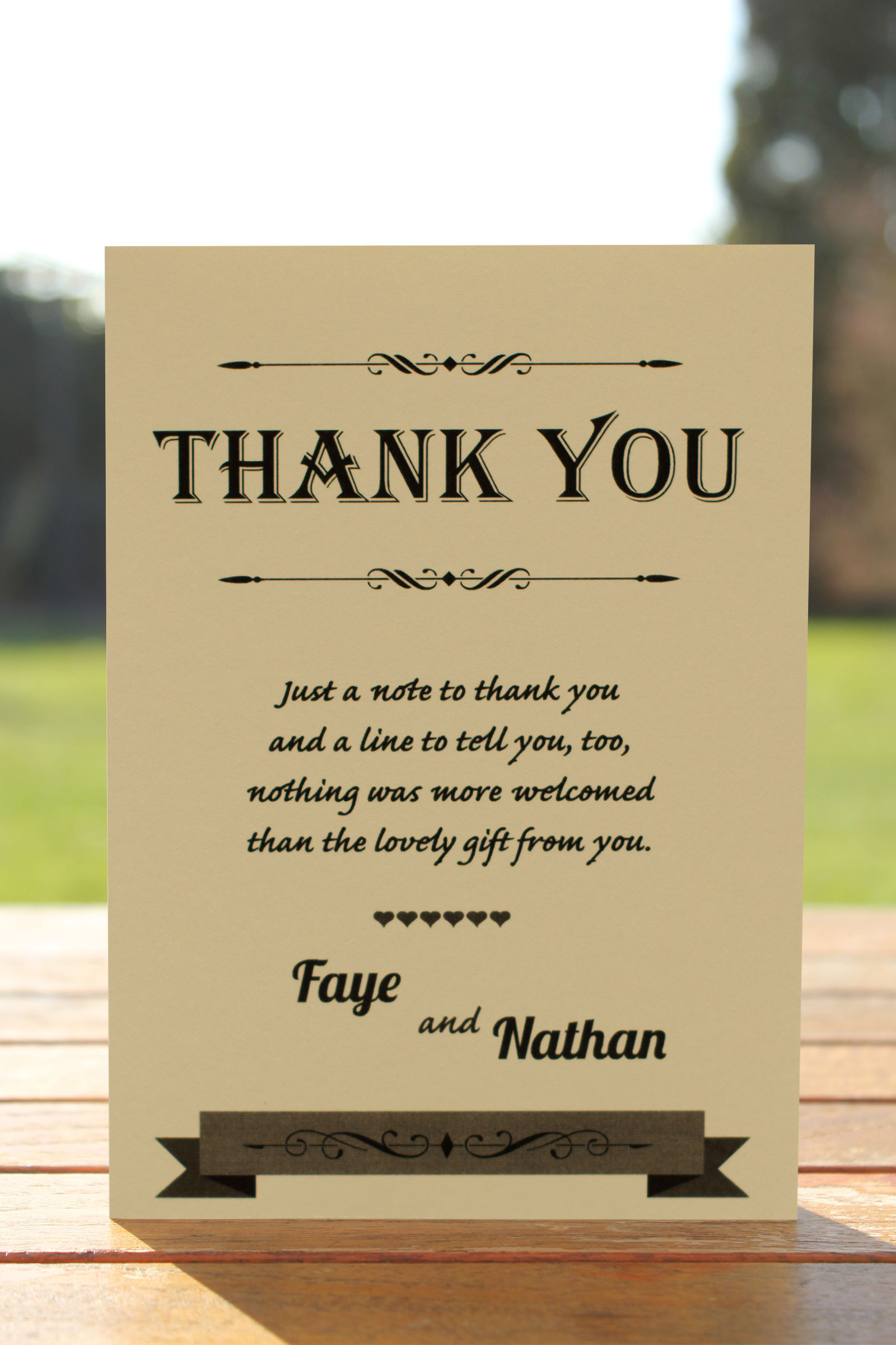 Thank You card from £0.48 ea
