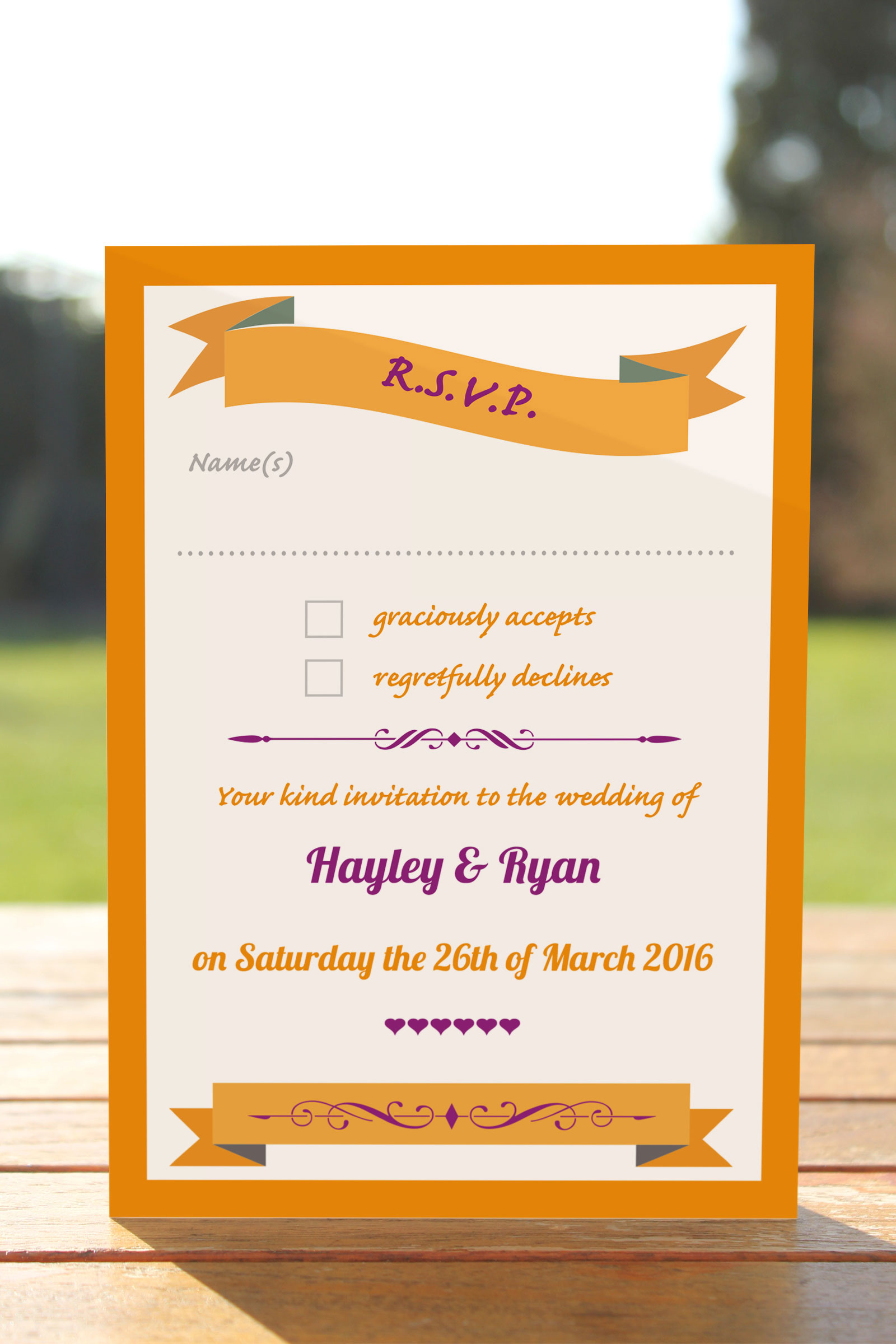 RSVP Postcards  from £0.52 ea