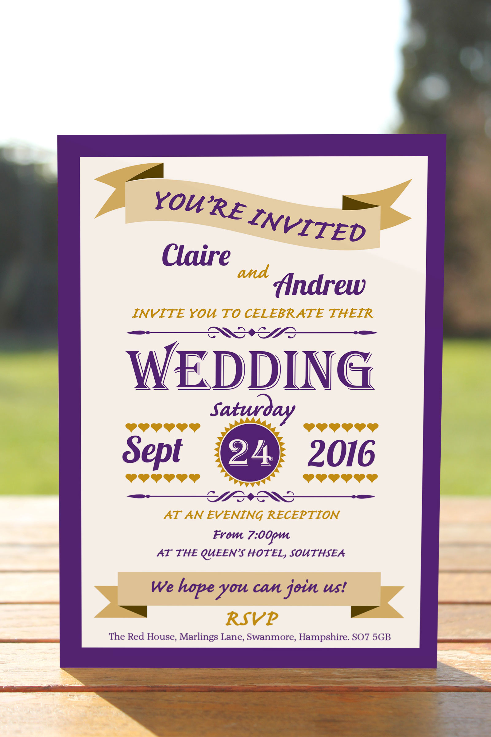 Evening Invitation from £0.57 ea