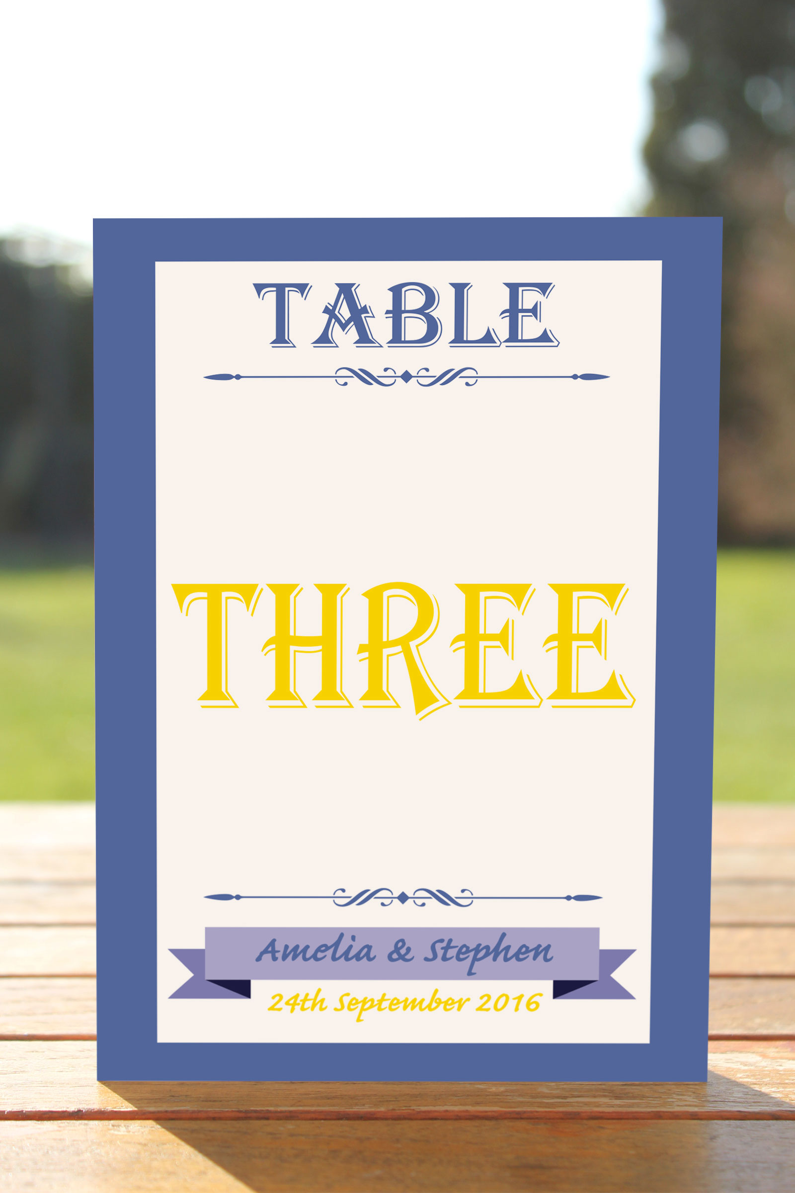 Table Name cards set of 10 £6.45