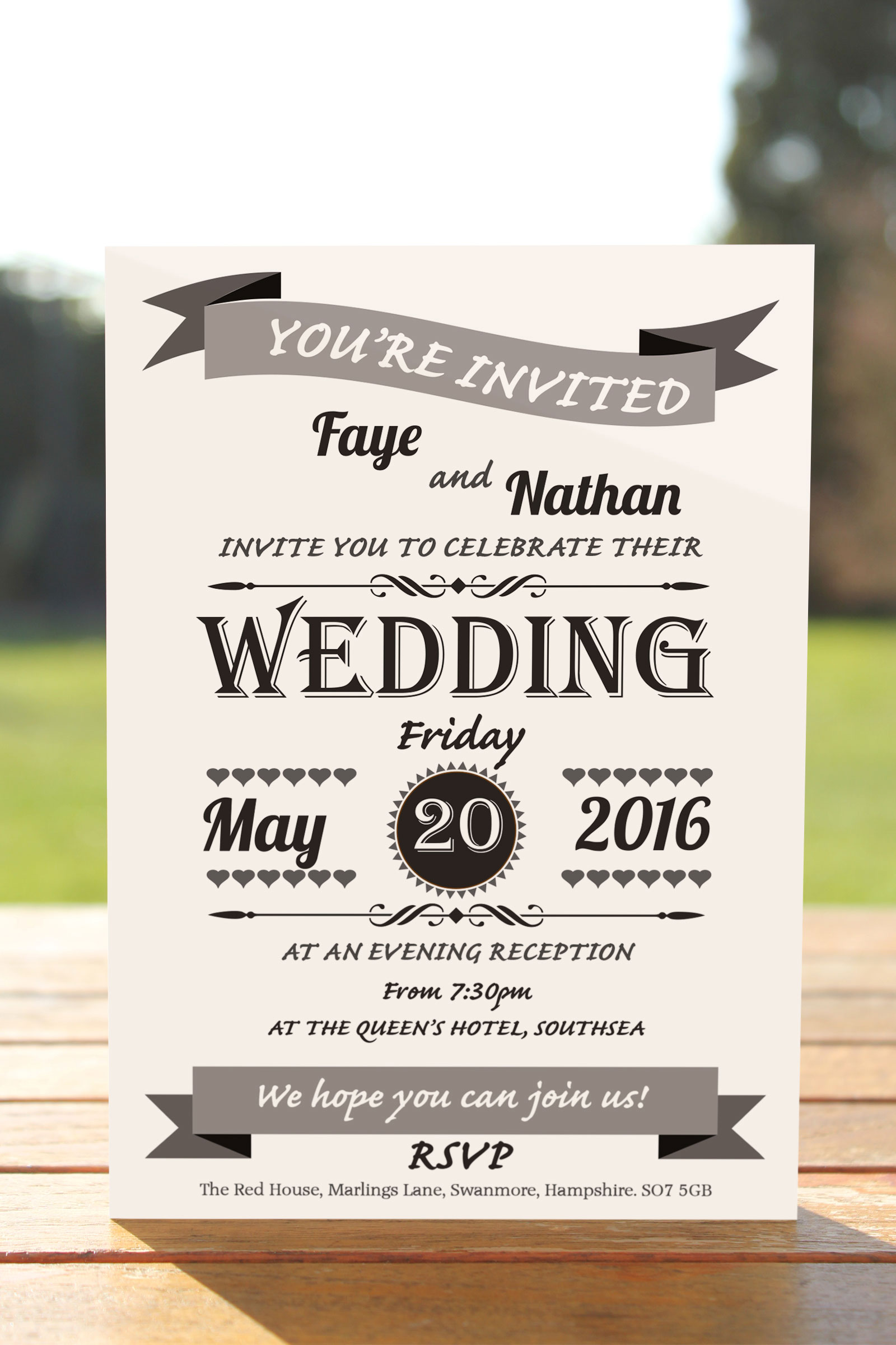 Evening Invitation from £0.48 ea