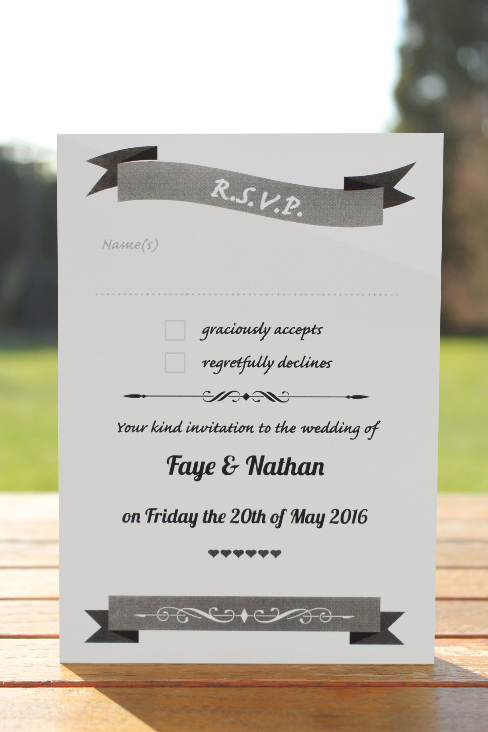 RSVP Postcards  from £0.43 ea